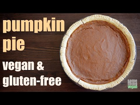 pumpkin pie (vegan & gluten-free) Something Vegan