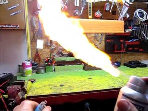 MacGajver. Nivea deodorant Flamethrower - slow motion.