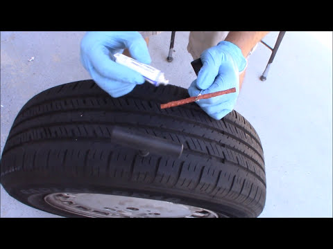 How to Fix a Flat Tire Without Removing the Wheel off the Car