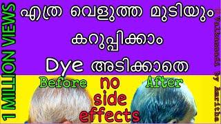 മുടി കറുപ്പിക്കാം നാച്ചുറൽ ആയി || 💯 #natural_hair_dye || #valkannadibyamritha
