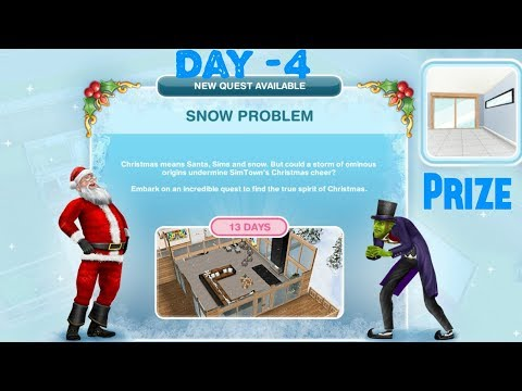 Simsfreeplay - Snow Problem Quest Day - 4 Christmas Holiday Update 2017