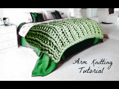 How To Arm Knit A Merino Wool Blanket