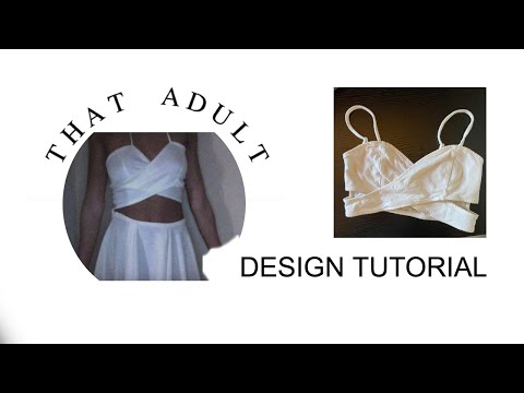 DIY Nasty Gal Wrap Crop Top (Sewing) From Tank Top / Body Suit