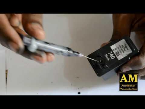 canon PG740 Black Ink catridge refilling | mx457 |How to refill pg740 ink catridge