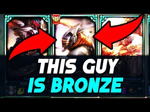 Do They Deserve it? Placing a BRONZE Master Yi in a Platinum Solo Q Game - League of Legends