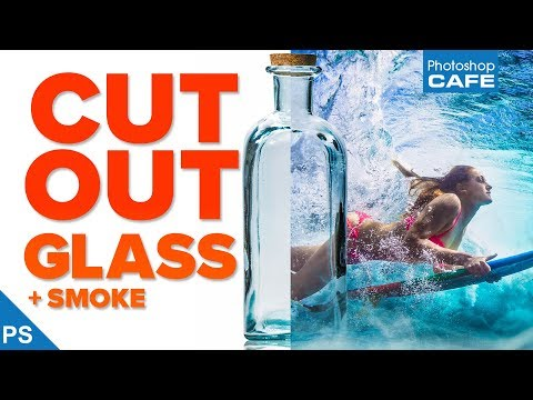 Extract GLASS + SMOKE: Transparent selections in PHOTOSHOP