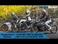 KTM RC 390 vs Apache RR 310 vs Dominar 400 - Comparison Review   MotorBeam