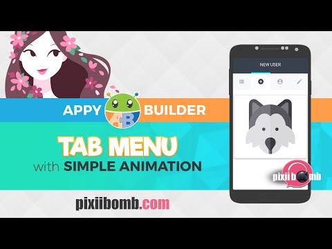 AppyBuilder: Tab Menu with Simple Animation
