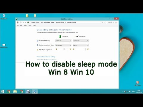 How to disable sleep mode Win 8 Win 10