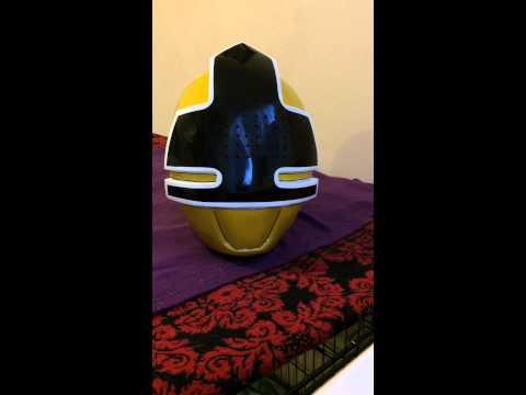 Power Rangers Samurai Yellow - Skinkenger Yellow helmet review