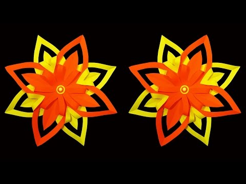 How to Make A 3D Paper Snowflake Flower (DIY) : HD