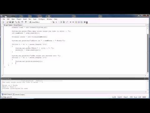 Arrays Part 8: The Scanner Class (Java)