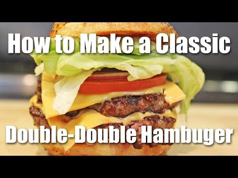 How to Make a Double Double Hamburger On the Stove Top