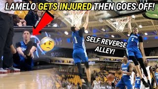 LaMelo Ball Gets INJURED AGAIN Then GOES CRAZY! Wild SPIRE FIGHT & Melo Self Alley Oop 😱