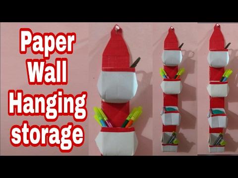 Paper Wall Hanging Storage Pockets | HMA##033
