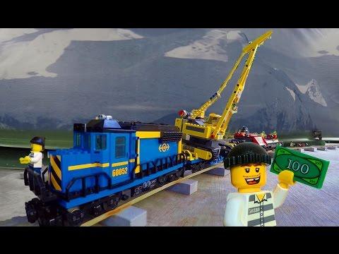 Bank Heist with a Lego train