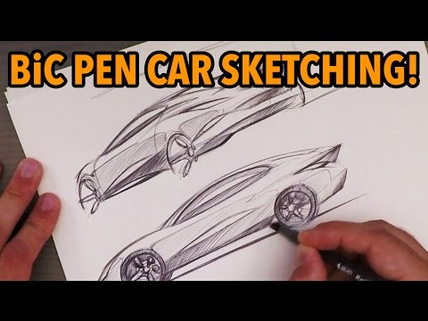 Industrial Design Sketching - Quick BiC Pen Car