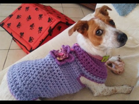 CROCHET DOG SWEATER any size tutorial
