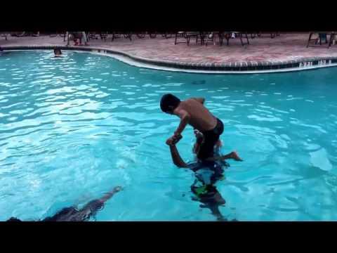 Front Dive, Back Flip - Dada's Shoulder or Diving Board