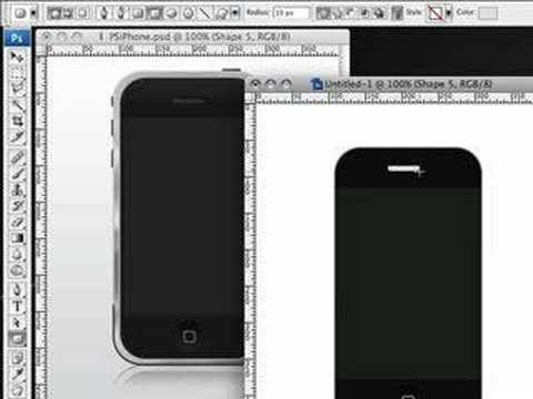 Create an iPhone in Photoshop  