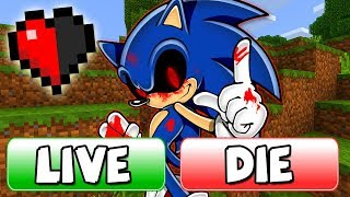 KILL OR SAVE Sonic.EXE BUTTON in Minecraft!