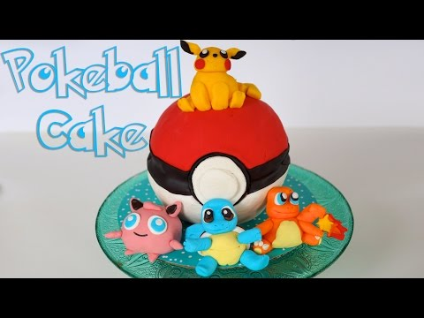 Pokemon Cake | Pokeball, Pikachu, Charmander, Squirtle & Jigglypuff Cake Toppers