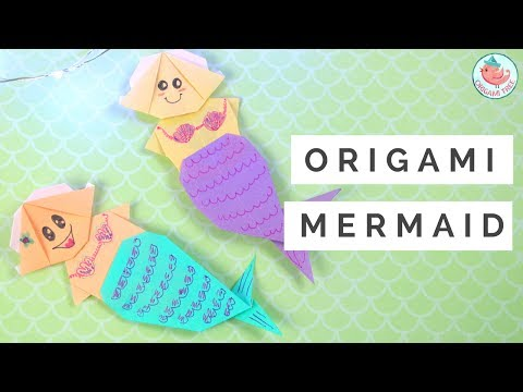 Origami Mermaid Tutorial - How to Fold an Origami Mermaid - Paper Crafts Tutorial for Kids