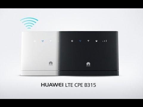 Basic Wifi Setup Huawei B315 LTE CPE 4G Router