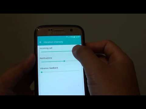 Samsung Galaxy S7: How to Change Phone Vibration Intensity