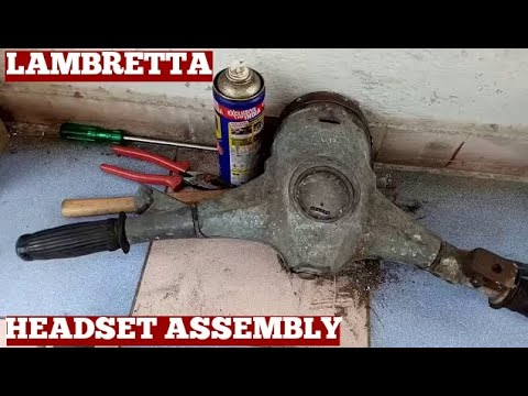 Opening 1968 Model Old Lambretta Scooter Handlebar Top Cover With Full Of Rust At Home Video Diy