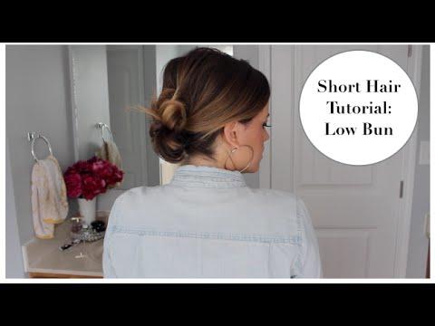 Short Hair Tutorial: Low Bun