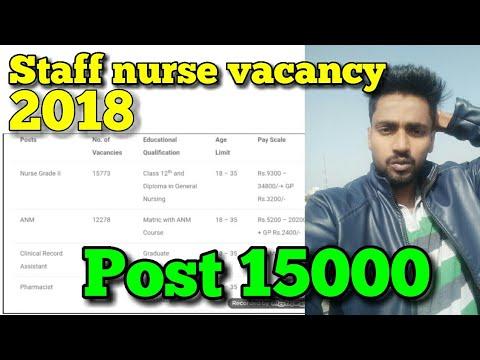 NRHM staff nurse vacancy 2018