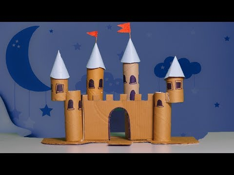 Cardboard Castle DIY Art - DIY Crafts