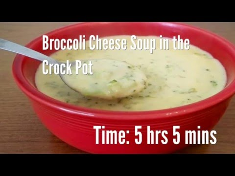 Broccoli Cheese Soup in the Crock Pot Recipe