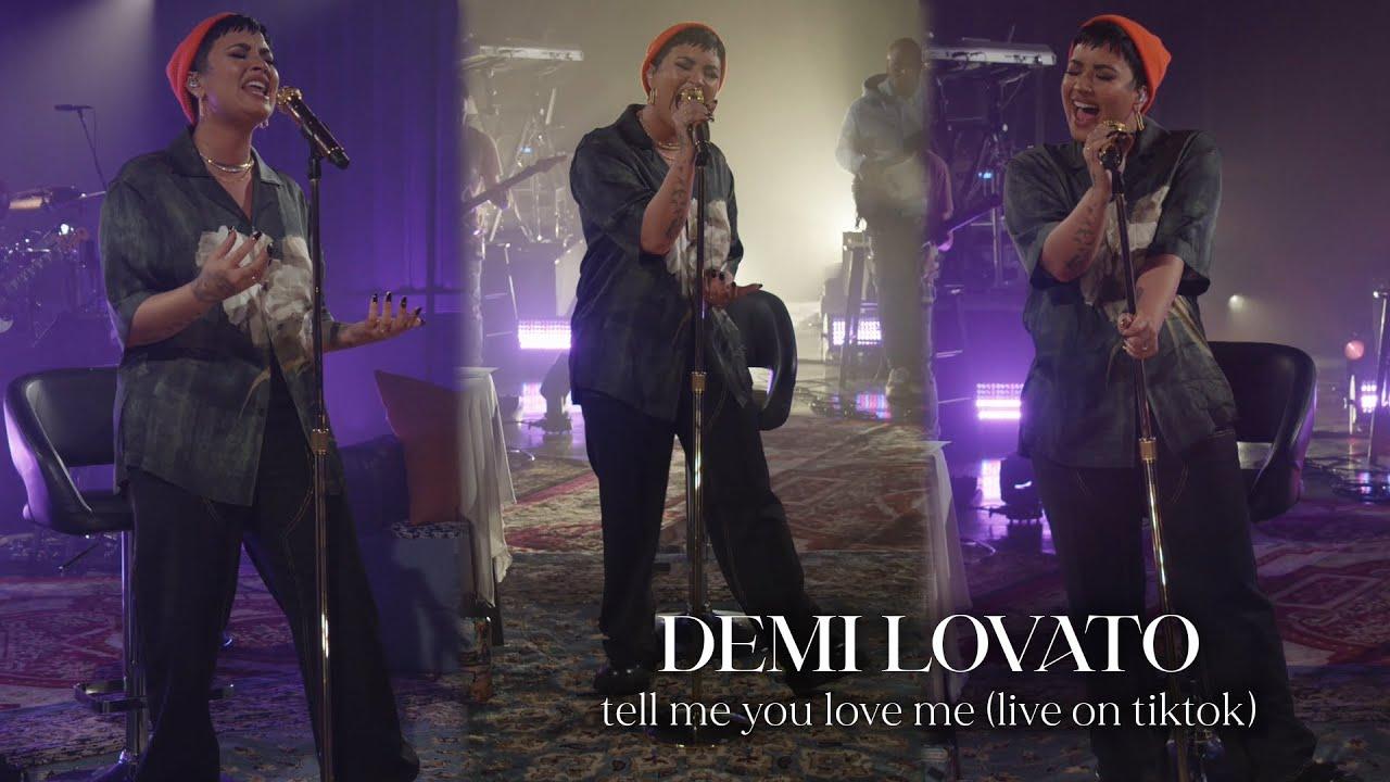 Demi Lovato - Tell Me You Love Me (Live on TikTok)