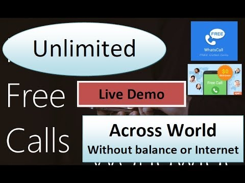 Free Calling to Any Number Across world Without Balance [Live Demo] in hindi