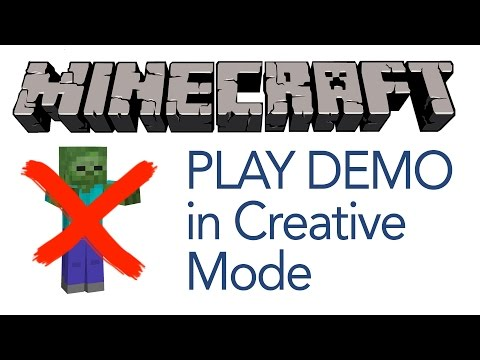 Download Minecraft Mac Demo and put in Creative Mode