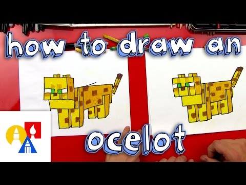 How To Draw A Minecraft Ocelot