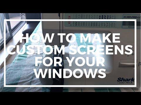 How to make custom window screens for your van, Van Build #3