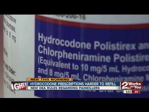 Hydrocodone prescriptions harder to refill