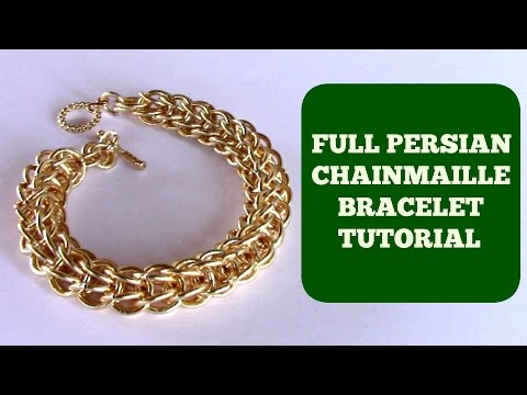 EASY STEP-BY-STEP  DIY JEWELRY TUTORIAL FULL  PERSIAN CHAINMAILLE BRACELET |