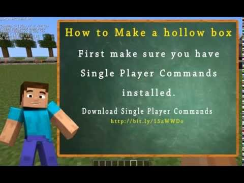 How to make a Hollow Box Using Single Player Commands/World Edit