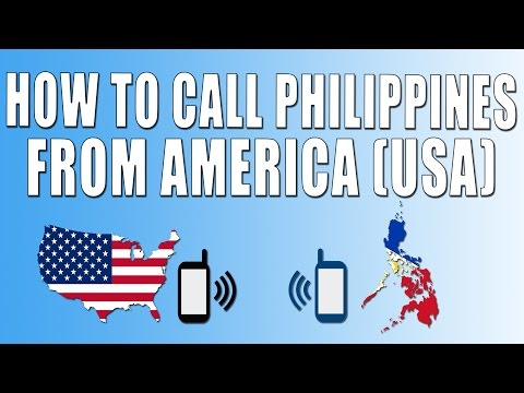 How To Call Philippines From America (USA)