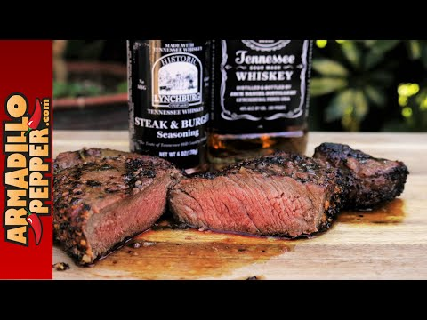 Grilled Bison Ribeye Steak with Jack Daniels Whiskey Butter Sauce