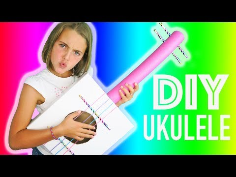 How To Make DIY Cardboard Box Ukulele | Easy Kids Crafts