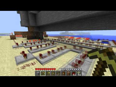 Minecraft 1.7 Piston Elevator - Automatic Design