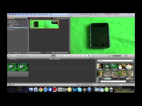 How To Use A Green Screen (Chroma Key) In iMovie 11