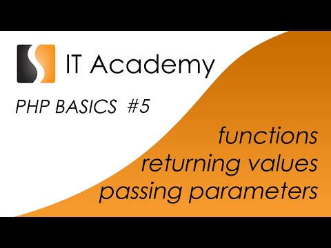 PHP05 - easy php tutorial and lesson - functions returning values passing parameters