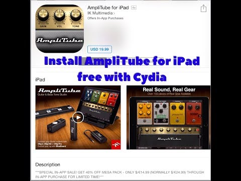 How to install AmpliTube for iPad free with Cydia