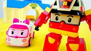 Wir packen Spielzeug aus - Roy das Feuerwehrauto - #RobocarPoli Spielzeugautos